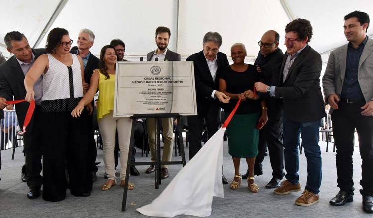 O governador Fernando Pimentel inaugurou, na sexta-feira, 10, o CREAS Regional em Almenara (foto: Manoel Marques / Imprensa MG)