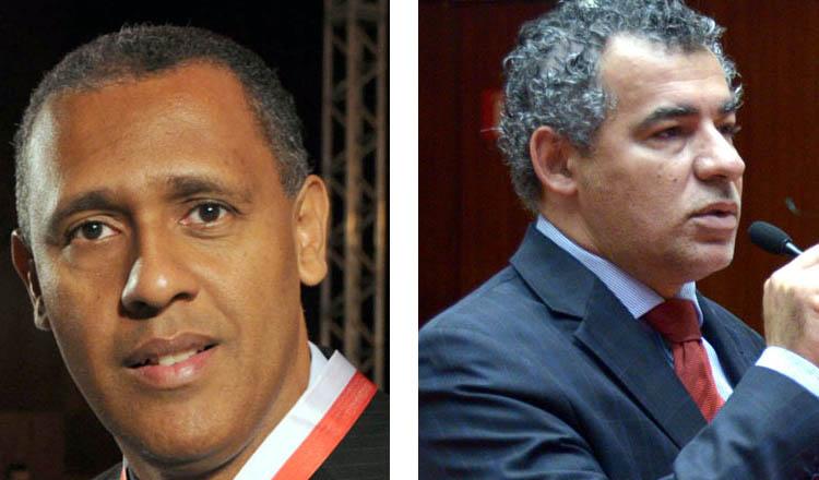 Os deputados Neilando Pimenta (esq), do Vale d Mucuri, e Dr. Jean Freire, do Vale do Jequitinhonha, estão na Comissão Permanente de Saúde da ALMG (crédito: montagem sobre fotos da ASCOM ALMG)