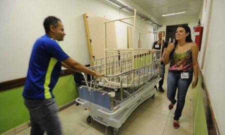 Com 85% de seu atendimento dedicado ao SUS, o Hospital da Baleia acumula dívidas de R$ 60 milhões e é forçado a 'reconfigurar' leitos (Foto: Beto Novaes/EM/D.A PRESS)