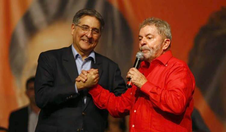 De acordo com uma fonte próxima ao governador Fernando Pimentel, a desistência de Lula em receber a comenda foi muito cômoda para o governador mineiro (foto: PT de Minas Gerais | Reprodução)