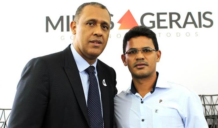 O deputado estadual Neilando Pimenta (PP) com o prefeito de Francisco Badaró, Adelino Pinheiro (foto: Divulgação)