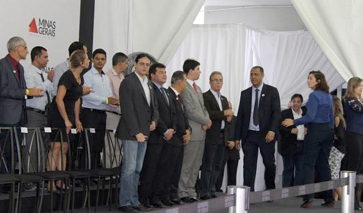 O deputado estadual Neilando Pimenta (PP) durante a participação na solenidade de entrega dos equipamentos de saúde às prefeituras de Águas Formosas e Francisco Badaró (foto: Divulgação)