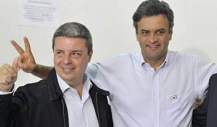 Os senadores Antonio Anastasia e Aécio Neves, ambos do PSDB, são os favoritos dos mineiros para o Governo de Minas nas eleições 2018 (foto: Pedro Vilella/Agência O GLOBO | Reprodução de O GLOBO)