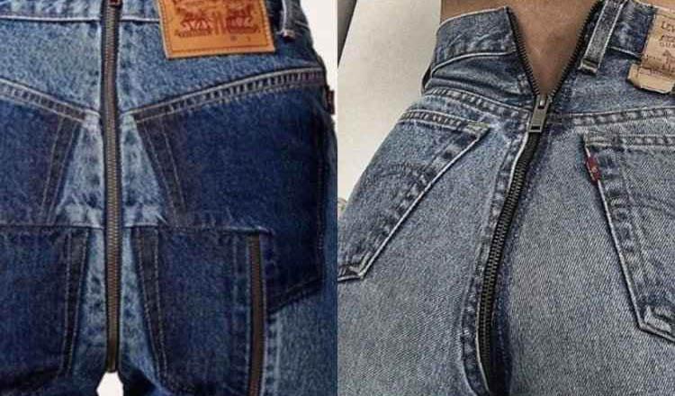 Calça jeans com zíper traseiro (foto: Reprodução do Instagram)
