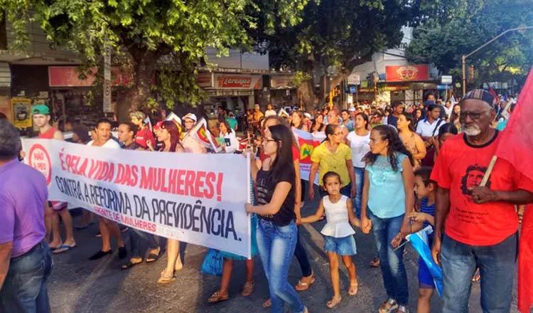 Manifestantes percorreram algumas ruas da cidade (Foto: Zana Ferreira/G1 | Reprodução)
